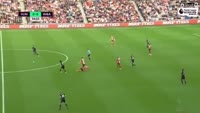 Nacer Chadli scores in the match Sunderland vs West Brom