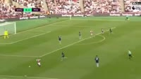Dimitri Payet scores in the match West Ham vs Middlesbrough