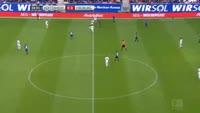 Sandro Wagner scores in the match Hoffenheim vs Freiburg