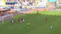 Kalidou Koulibaly scores in the match Napoli vs AS Roma