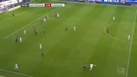 Florian Niederlechner scores in the match Hoffenheim vs Freiburg