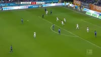 Nabil Bentaleb scores in the match Augsburg vs Schalke