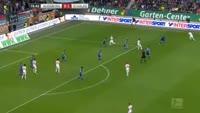 Daniel Baier scores in the match Augsburg vs Schalke