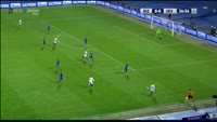 Samir Nasri scores in the match Din. Zagreb vs Sevilla