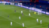 Lucas Moura scores in the match Paris SG vs Basel