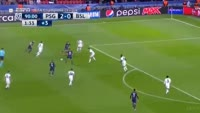 Edinson Cavani scores in the match Paris SG vs Basel