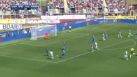 Paulo Dybala scores in the match Empoli vs Juventus