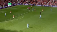 Joe Allen scores in the match Manchester United vs Stoke City