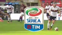 Blerim Dzemaili receives a red card in the match Bologna vs Genoa