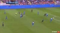 Giacomo Bonaventura scores in the match AC Milan vs Sassuolo