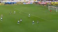 Iago Falque scores in the match Torino vs Fiorentina