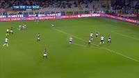 Khouma Babacar scores in the match Torino vs Fiorentina