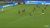 Edin Dzeko scores in the match AS Roma vs Inter