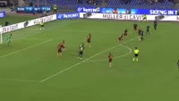 Ever Banega scores in the match AS Roma vs Inter