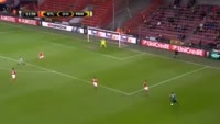 Victor Ibarbo scores in the match St. Liege vs Panathinaikos