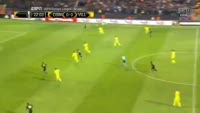 Raul Rusescu scores in the match Osmanlispor FK vs Villarreal