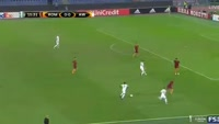 Raphael Holzhauser scores in the match AS Roma vs Austria Vienna