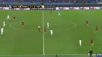 Stephan El Shaarawy scores in the match AS Roma vs Austria Vienna