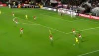 Ezequiel Scarione scores in the match AZ Alkmaar vs Maccabi Tel Aviv