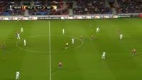 Denis Alibec scores in the match Plzen vs FC Astra