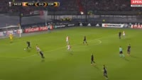 Nicolai Jorgensen scores in the match Feyenoord vs Zorya