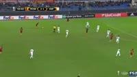 Alessandro Florenzi scores in the match AS Roma vs Austria Vienna