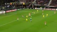 Eyal Golasa scores in the match AZ Alkmaar vs Maccabi Tel Aviv