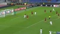 Dominik Prokop scores in the match AS Roma vs Austria Vienna