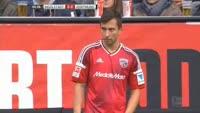 Almog Cohen scores in the match Ingolstadt vs Dortmund