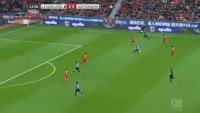 Kerem Demirbay scores in the match Bayer Leverkusen vs Hoffenheim