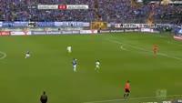 Jeffrey Bruma receives a red card in the match Darmstadt vs Wolfsburg