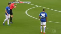 Anis Ben-Hatira scores in the match Darmstadt vs Wolfsburg