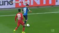 Sandro Wagner scores in the match Bayer Leverkusen vs Hoffenheim