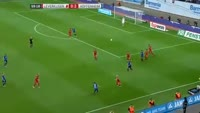 Steven Zuber scores in the match Bayer Leverkusen vs Hoffenheim