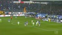 Mario Gomez scores in the match Darmstadt vs Wolfsburg