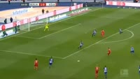 Anthony Modeste scores in the match Hertha Berlin vs Koln