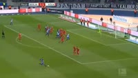 Niklas Stark scores in the match Hertha Berlin vs Koln