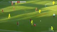 Halil Altintop scores in the match Freiburg vs Augsburg