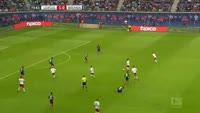 Naby Keita scores in the match RB Leipzig vs Werder Bremen