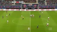 Serge Gnabry scores in the match RB Leipzig vs Werder Bremen