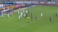 Mattia Caldara scores in the match Pescara vs Atalanta