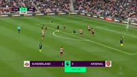 Alexis Sanchez scores in the match Sunderland vs Arsenal