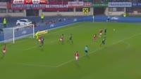 Joe Allen scores in the match Austria vs Wales