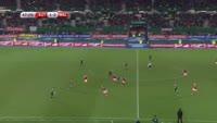 Marko Arnautovic scores in the match Austria vs Wales