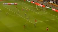 Cristiano Ronaldo scores in the match Portugal vs Andorra