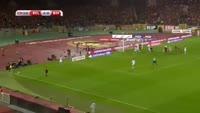 Toby Alderweireld scores in the match Belgium vs Bosnia & Herzegovina