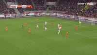 Ricardo Rodriguez scores in the match Hungary vs Switzerland