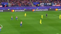 Antoine Griezmann scores in the match Atl. Madrid vs FK Rostov
