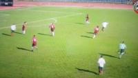 Goncalo Vieira scores own goal in the match Bulgaria U19 vs Portugal U19
