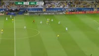 Neymar da Silva Santos Junior scores in the match Brazil vs Argentina